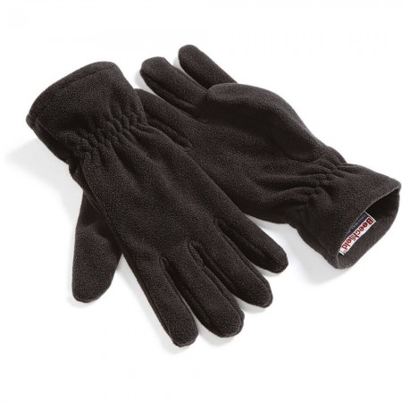 Gants Polaire Noir Suprafleece® Unisexe Chaud et Léger - Beechfield