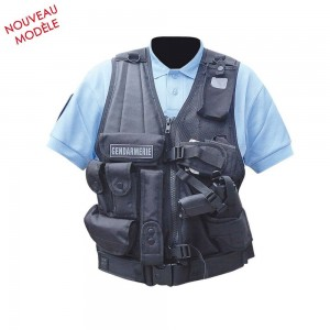 Gilet Tactique Forces d'Intervention - Holster Gaucher - Patrol Equipement