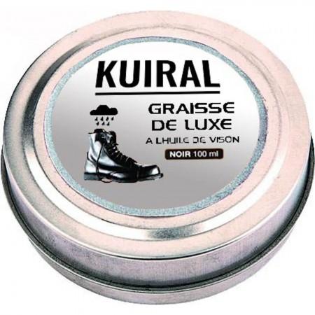 Graisse de Luxe Noire pour Cuir Lisse de Chaussures Rangers - 100 ml - Kuiral
