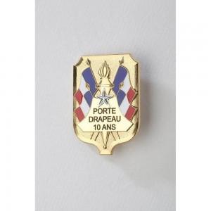 Insigne Porte-Drapeaux 10 ans - Taille Standard - Bacqueville