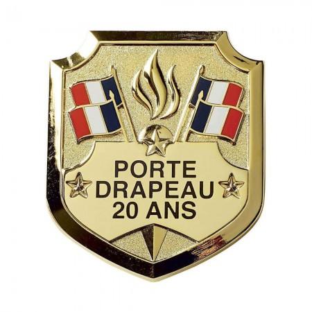 Insigne Porte-Drapeaux 20 ans - Taille Réduction - Bacqueville