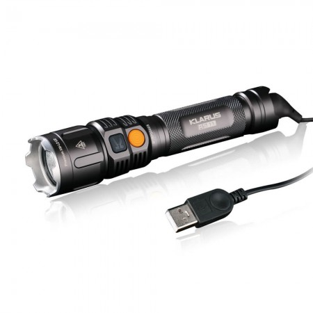 Lampe Tactique Rechargeable RS11 LED - Etanche - 930 Lumens - Klarus