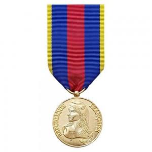 Médaille Ordonnance MRV-DSI (ex-SMV) - des Réservistes Volontaire de Défense et de Sécurité Intérieure - Or