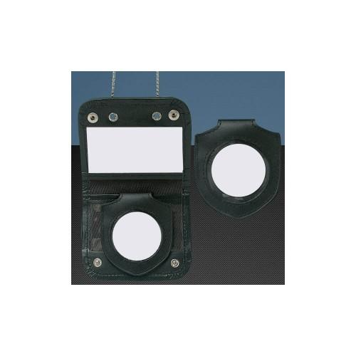 Porte-Cartes Noir Cuir et Cordura - Porte-Insigne Inclus - Opex