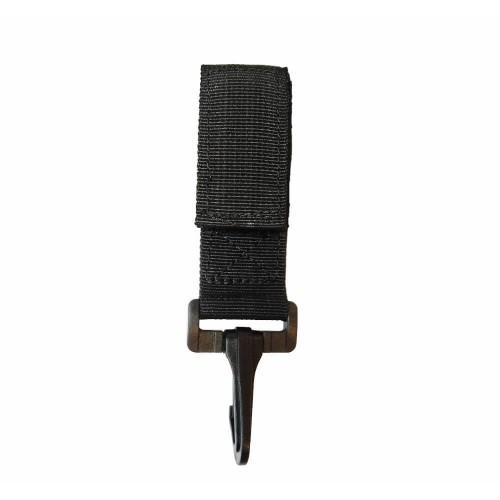 Porte-Mousqueton Noir en Plastique - TOE Design
