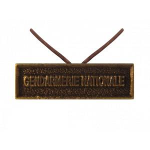 Agrafe Gendarmerie Nationale pour Médaille Réduction et Dixmude