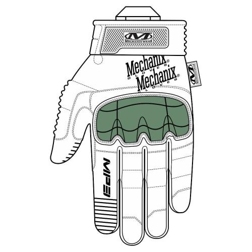 Gants d'Intervention Coqués Respirants M-Pact 3 Noir - Mechanix