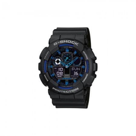Montre Casio G-Shock Ultra-Résistante GA-100 1A2ER - Noir et Bleu