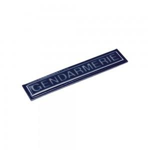 Bandeau GENDARMERIE Rétroréfléchissant - Velcro Bleu 2x13 cm