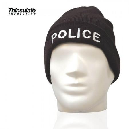 Bonnet Thinsulate Police Nationale Noir - Patrol Equipement