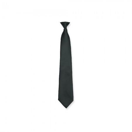 Cravate à Clip Anti-Agression - Polyester Noire - Attache Rapide - DMB
