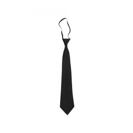 Cravate à Nœud Elastique Anti-Agression - Noire Réglable - DMB