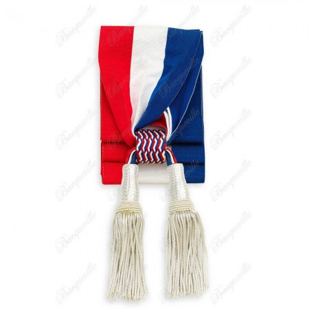 Echarpe Tricolore de Cérémonie pour Maire-Adjoint - avec Glands Luxe
