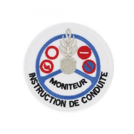 Écusson de Bras Gendarmerie de Légion Brodé - Instruction de Conduite Moniteur Argent