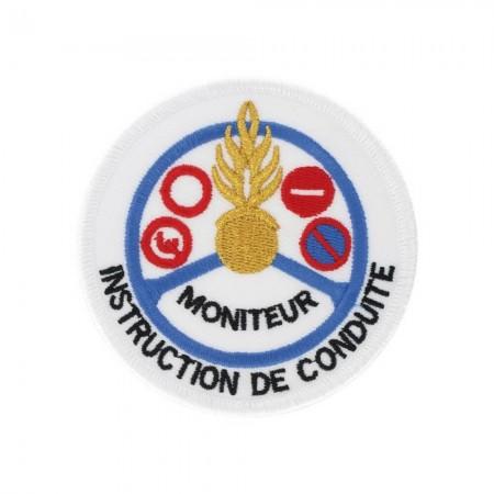 Écusson de Bras Gendarmerie de Légion Brodé - Instruction de Conduite Moniteur Or